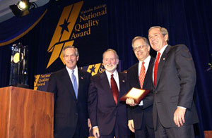 Accepting the Baldrige Award
