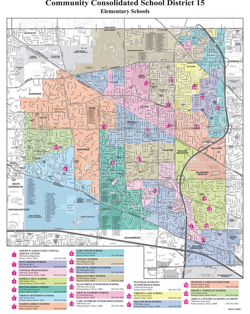 administrative services boundary maps