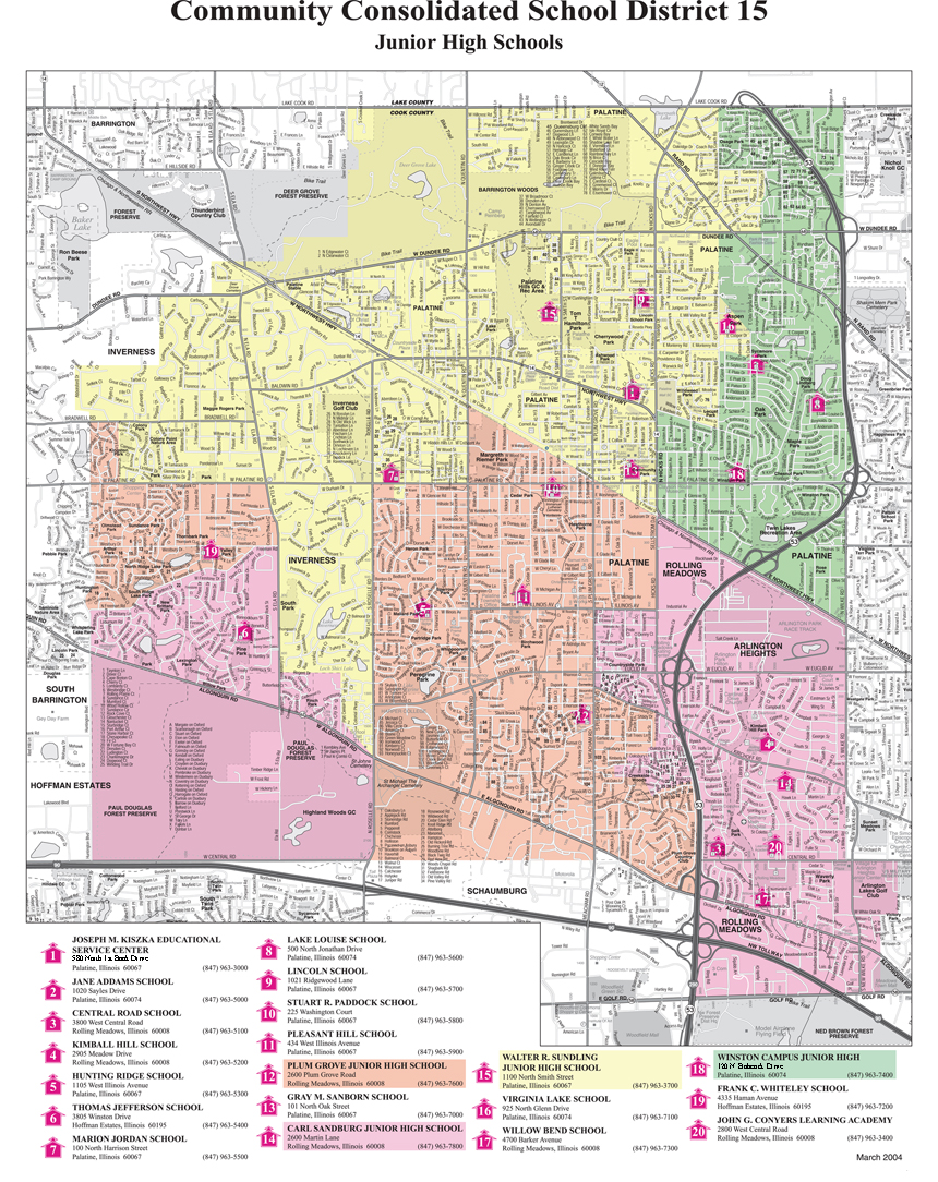 Palatine Illinois Map.Administrative Services Boundary Maps