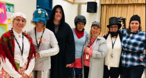 Teacher's dressed up as different genres