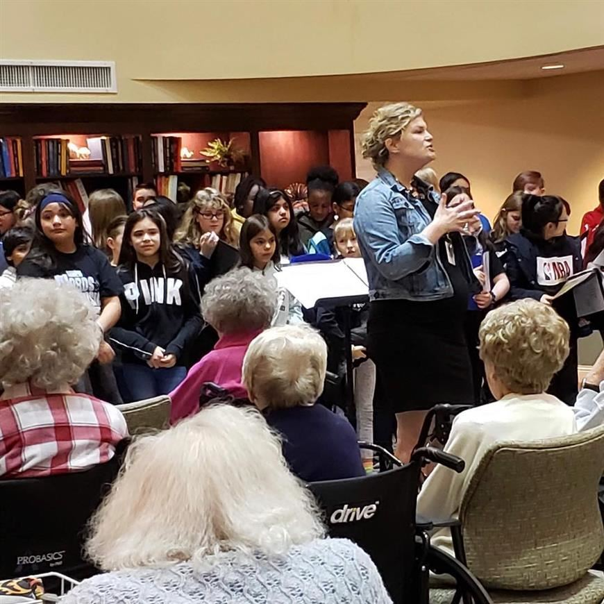 Lincoln Choir Visits Church Creek Retirement Center
