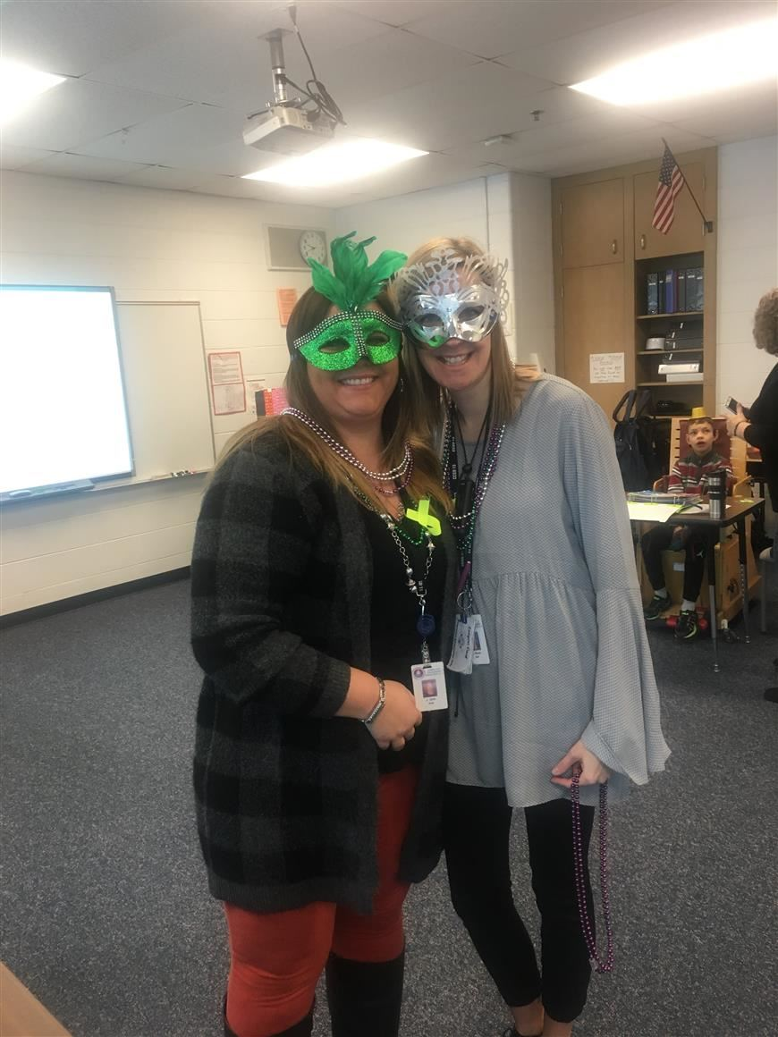 Mrs. Busse and Mrs. Orth