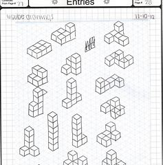3D sketching using isometric paper