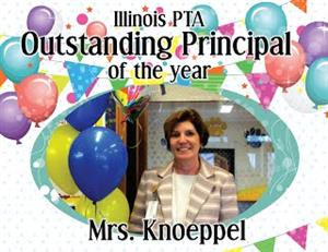 Congratulations to Mrs. Knoeppel, IL PTA 2017 Outstanding Principal of the Year!