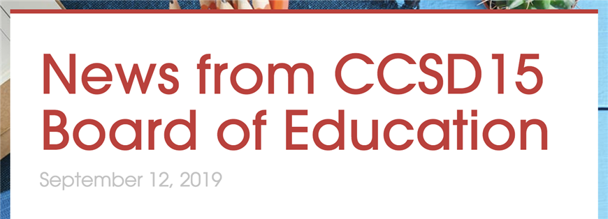 Board of Education News, Sept. 12, 2019